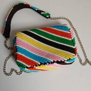 Zara sequin multi color purse